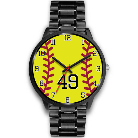 Image of Women's Black Softball Watch -49
