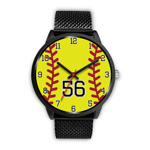 Women's Black Softball Watch -56