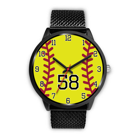 Women's Black Softball Watch -58