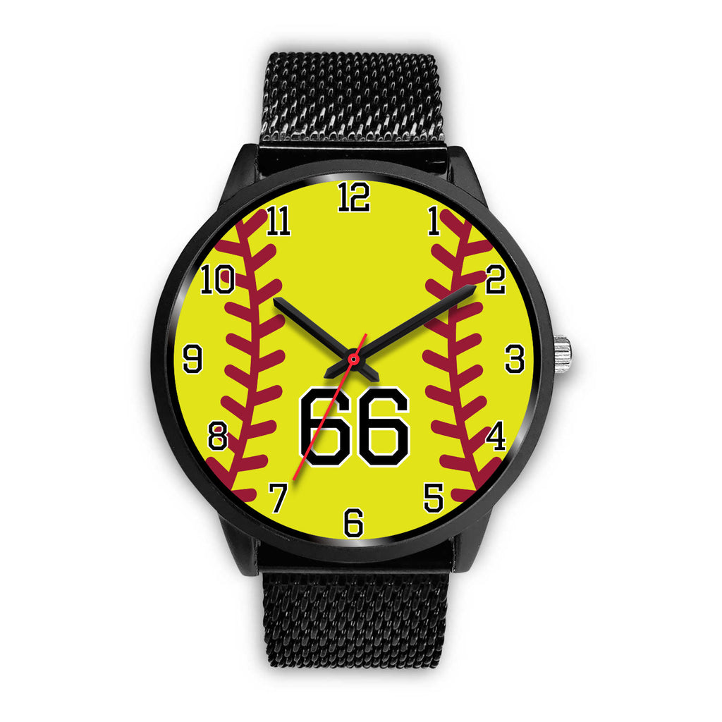 Women's Black Softball Watch -66