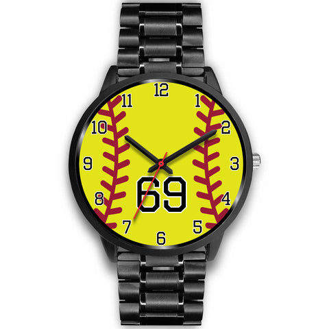 Image of Women's Black Softball Watch -69