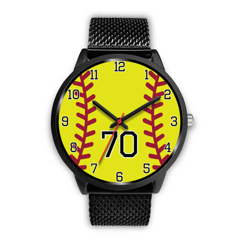 Image of Women's Black Softball Watch -70