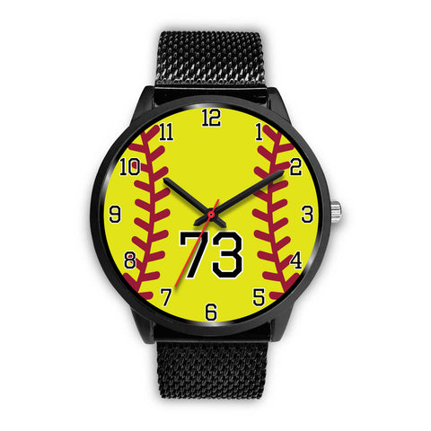 Women's Black Softball Watch -73