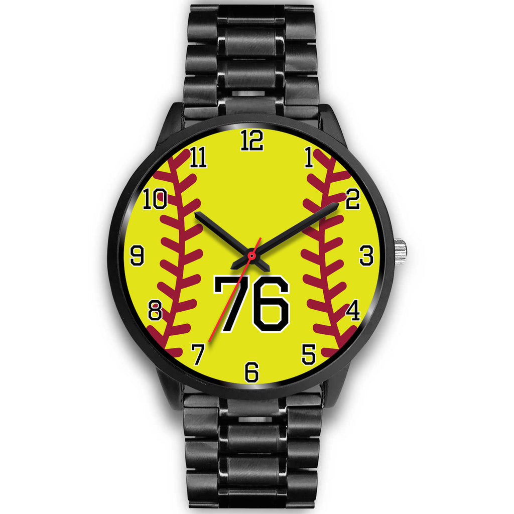 Women's Black Softball Watch -76