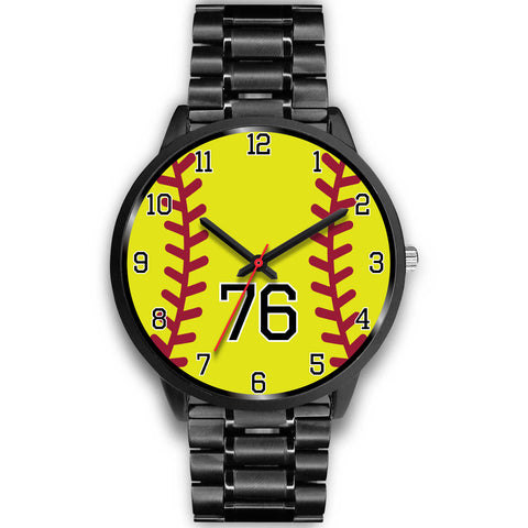 Image of Women's Black Softball Watch -76