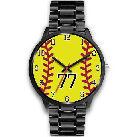 Women's Black Softball Watch -77