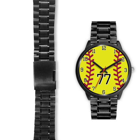 Image of Women's Black Softball Watch -77