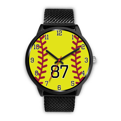Image of Women's Black Softball Watch -87