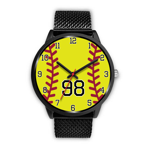Women's Black Softball Watch -98