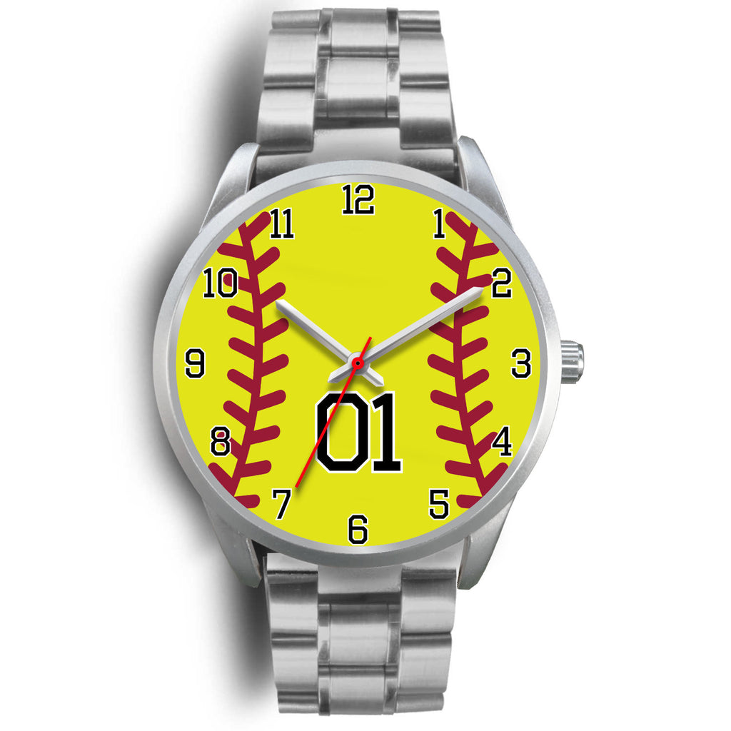 Women's Silver Softball Watch -01