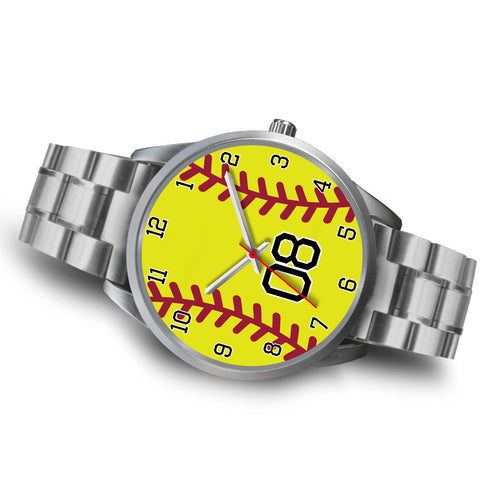 Image of Women's Silver Softball Watch -08
