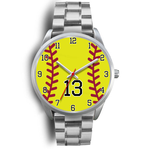 Women's Silver Softball Watch -13