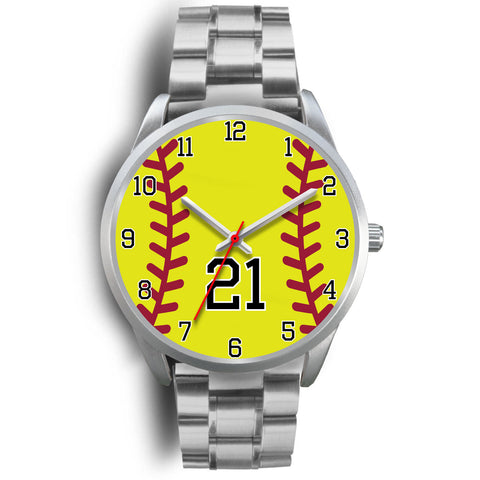 Women's Silver Softball Watch -21
