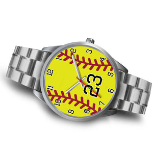 Women's Silver Softball Watch -23