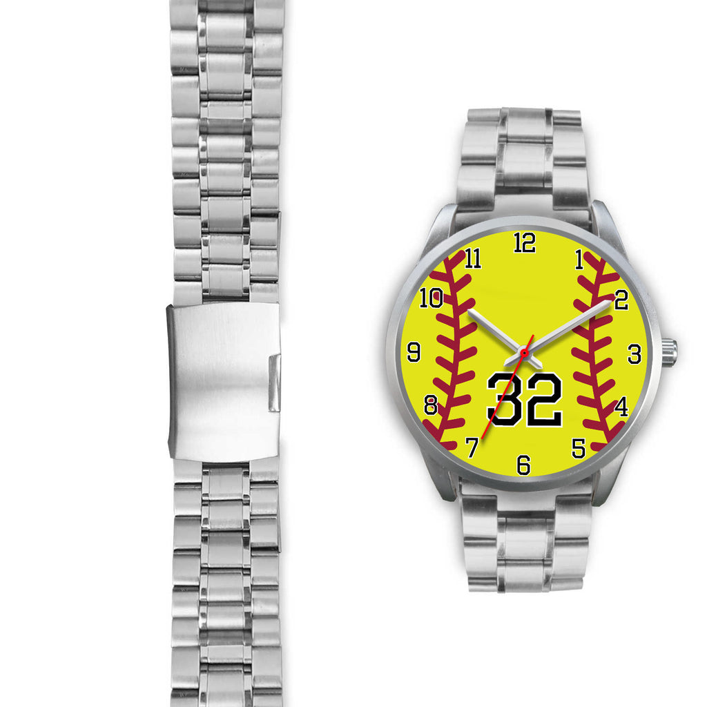 Women's Silver Softball Watch -32