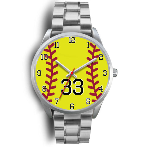 Women's Silver Softball Watch -33