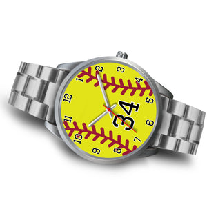 Women's Silver Softball Watch -34