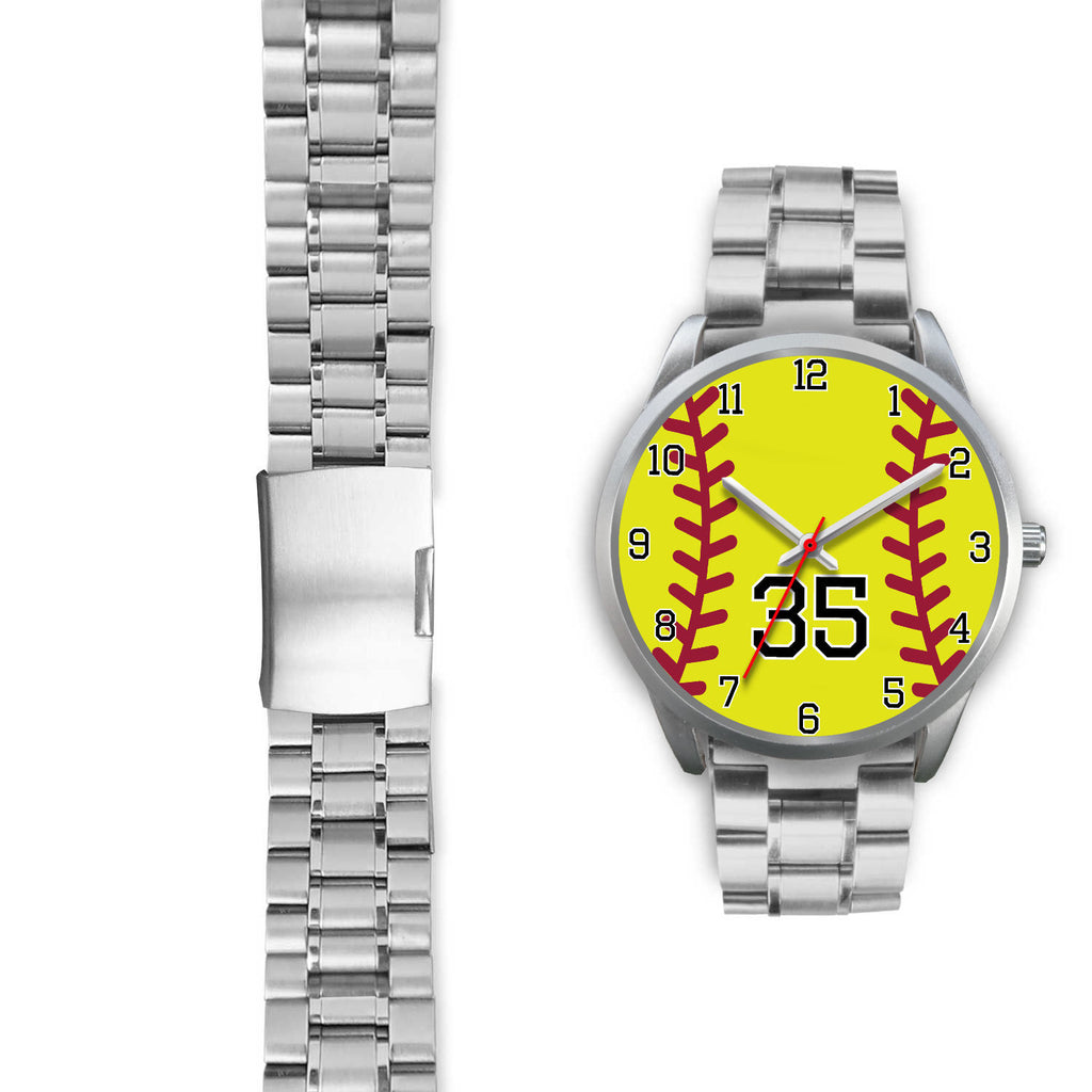 Women's Silver Softball Watch -35