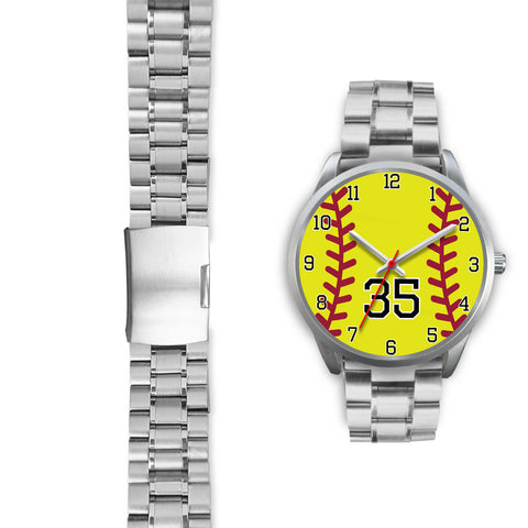Image of Women's Silver Softball Watch -35