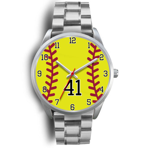 Image of Women's Silver Softball Watch -41