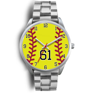 Women's Silver Softball Watch -61