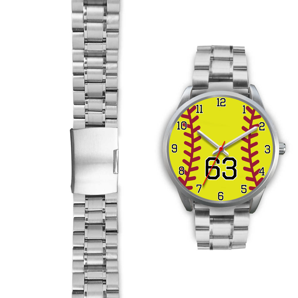 Women's Silver Softball Watch -63