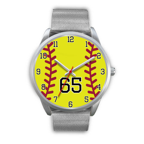 Image of Women's Silver Softball Watch -65