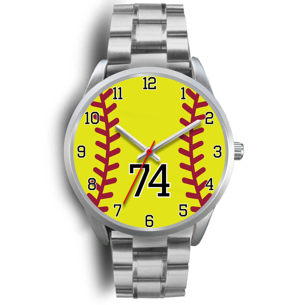 Women's Silver Softball Watch -74