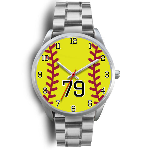 Women's Silver Softball Watch -79