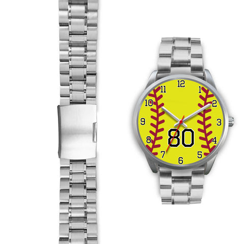 Image of Women's Silver Softball Watch -80