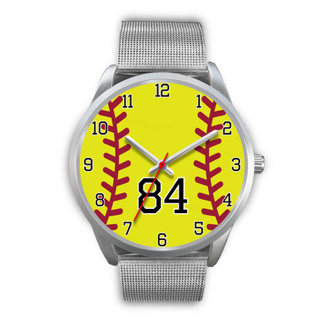 Image of Women's Silver Softball Watch -84