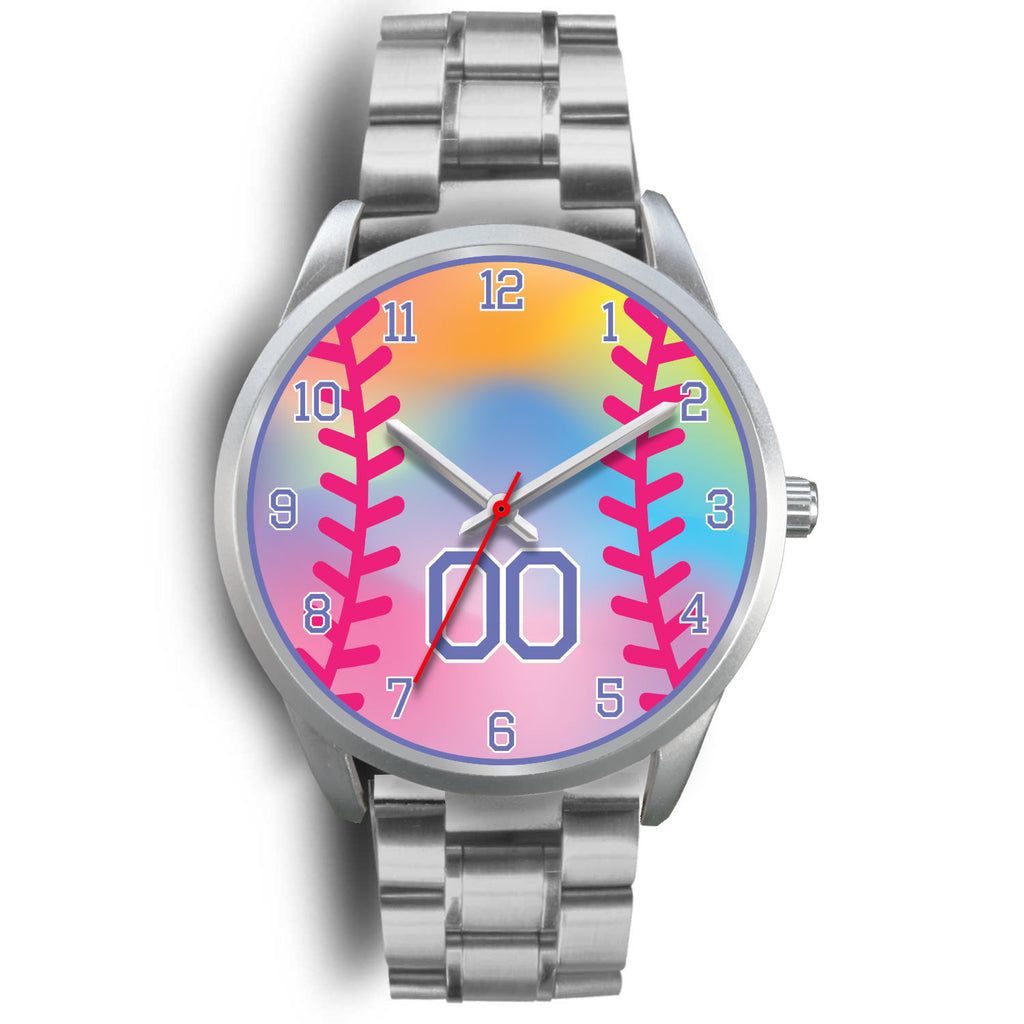 Girl's rainbow softball watch - 00