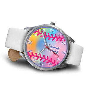Girl's rainbow softball watch - 11