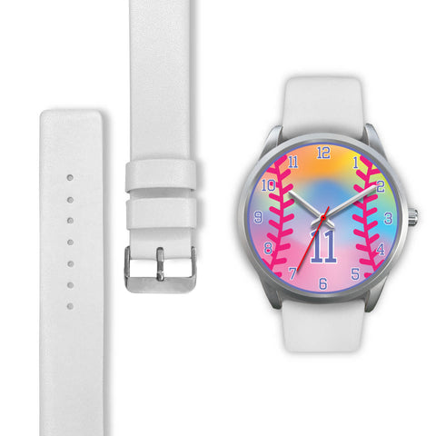 Image of Girl's rainbow softball watch - 11