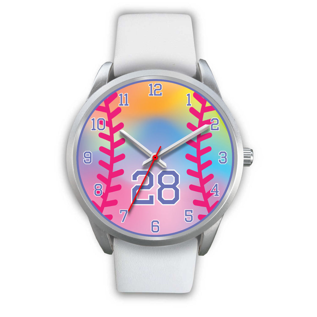 Girl's rainbow softball watch - 28