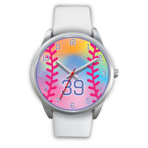 Image of Girl's rainbow softball watch - 39