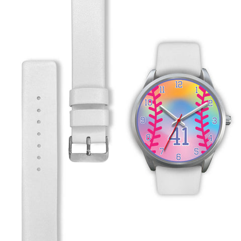 Image of Girl's rainbow softball watch - 41