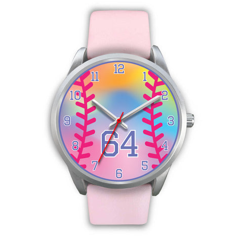 Image of Girl's rainbow softball watch - 64