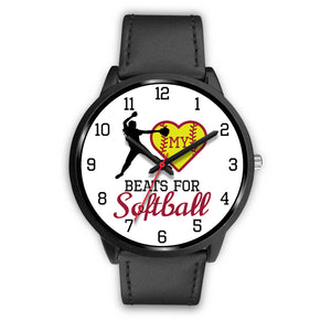 My heart beats for softball girl's watch - Pitcher