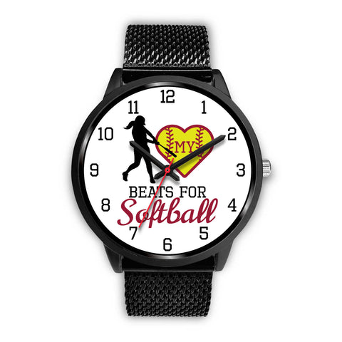 My heart beats for softball girl's watch - Hitter
