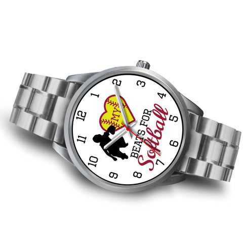 Image of My heart beats for softball women's watch - catcher