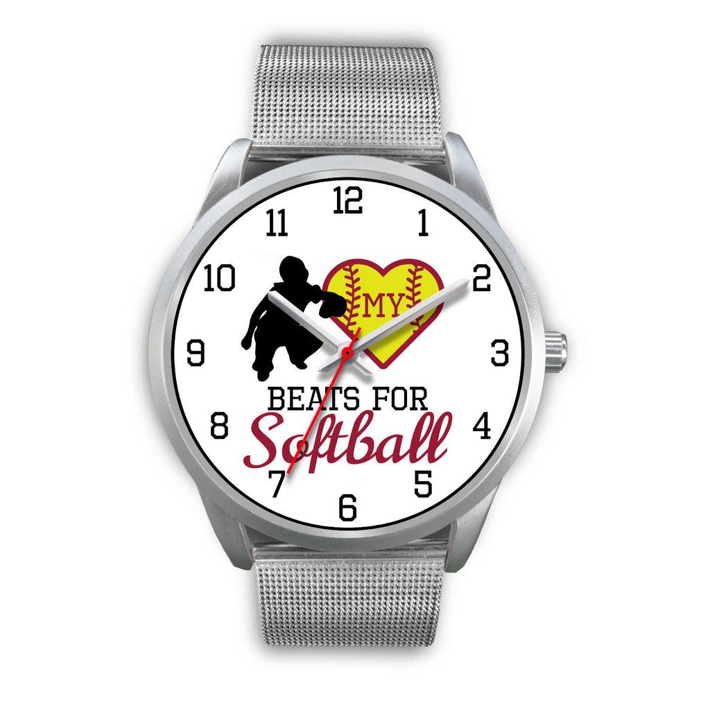 My heart beats for softball women's watch - catcher