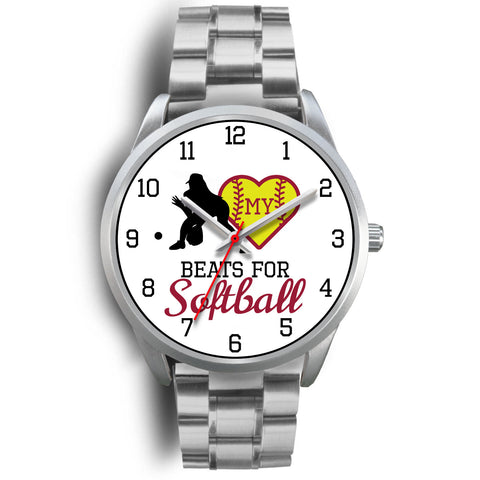 Image of My heart beats for softball women's watch - fielder