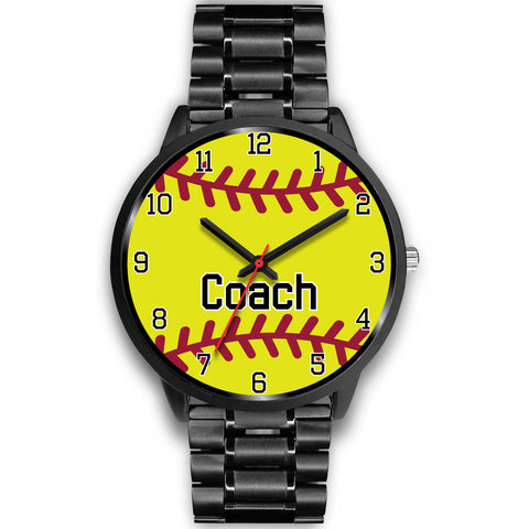 Image of Men's Black Softball Watch - Coach