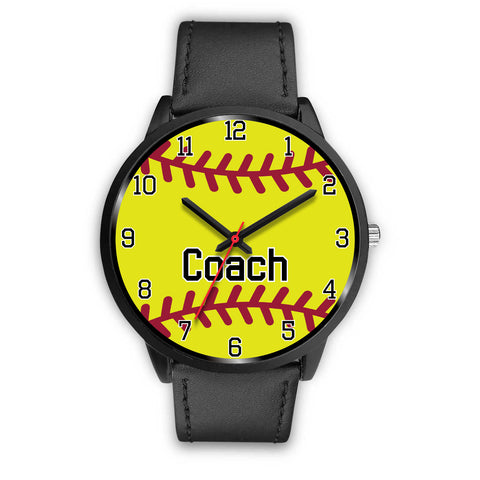 Men's Black Softball Watch - Coach