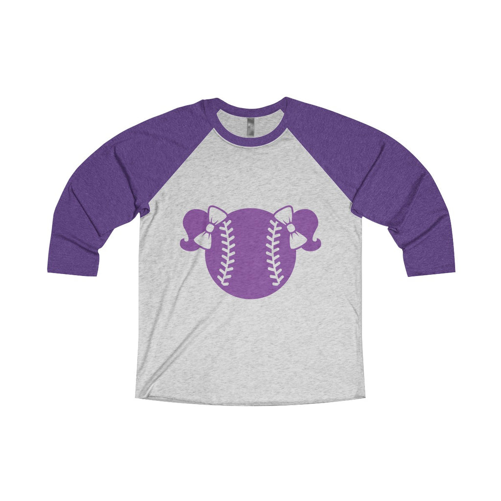 Purple Baseball Tee