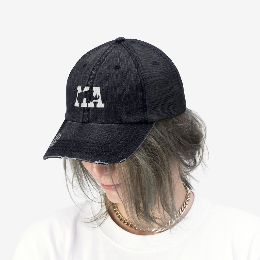 Unisex Trucker Hat - Massachusetts