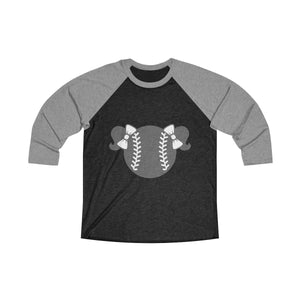Black and Grey Baseball Tee