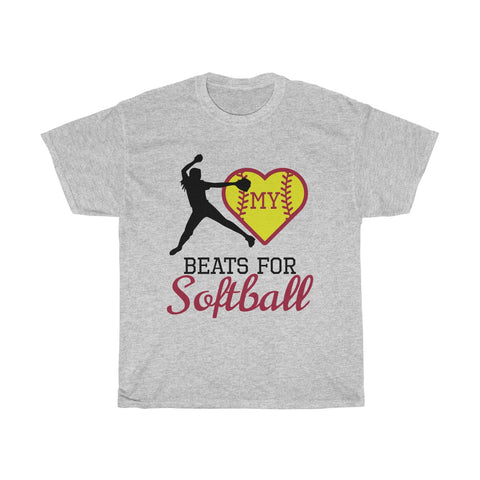 Image of My heart beats for softball (pitcher)