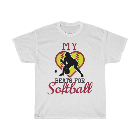 Image of My heart beats for softball (fielder)